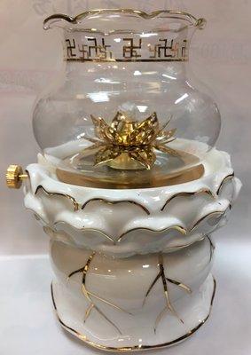 【弘真宗教文物】石蠟油專用油燈杯