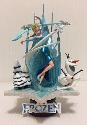 【卡漫精品館】Disney 泰國迪士尼專賣店【Frozen 冰雪奇緣艾莎與雪寶 】電影場景城堡模型組絕版逸品