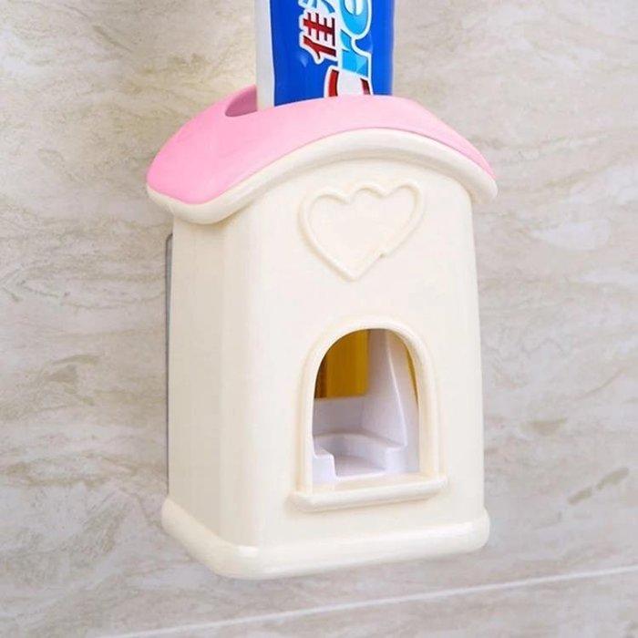 全自動擠牙膏器套裝壁掛式牙刷架創意牙膏擠壓神器 JA2617