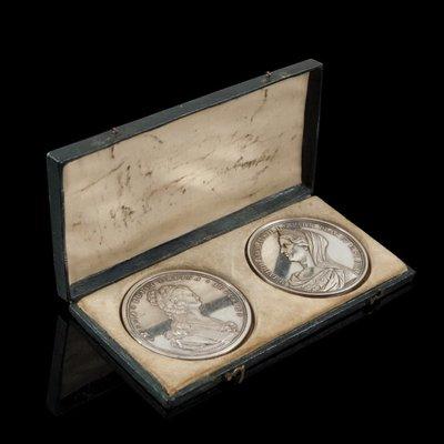 奧地利銀對章 Queen Maria Louisa &  Duchess of Parma Silver Medals