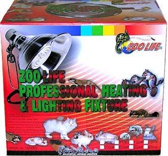 (1-08P)ZOO LIFE 可調溫式白金品質遠紅外線陶瓷加溫器120V150W保溫燈組