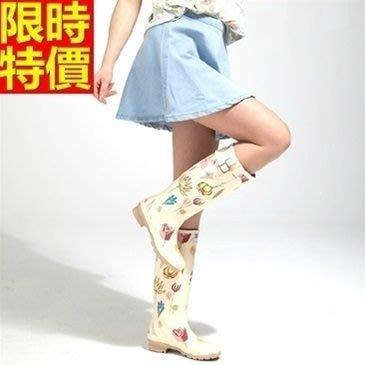 長筒雨靴子 雨具-韓版時尚碎花休閒女雨鞋子3色66ak20[獨家進口][米蘭精品]