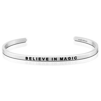 MANTRABAND 美國悄悄話手環 Believe in Magic 相信奇蹟 銀色手環