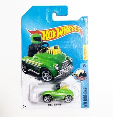 Osmileooo-hot wheels 玩具車 綠 PEDAL DRIVER 綠 301