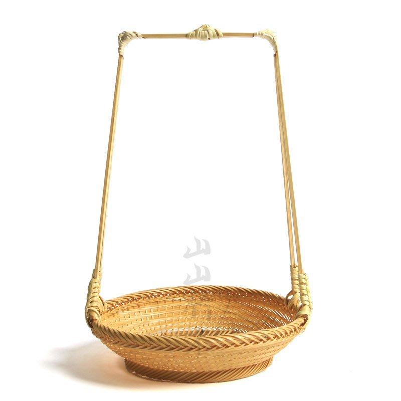 茶點盤精編點心盤竹編提籃茶道水果盤白竹手工精細日本