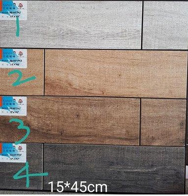 [磁磚之嘉] 15*40 老木紋 石英磚 ~有4色