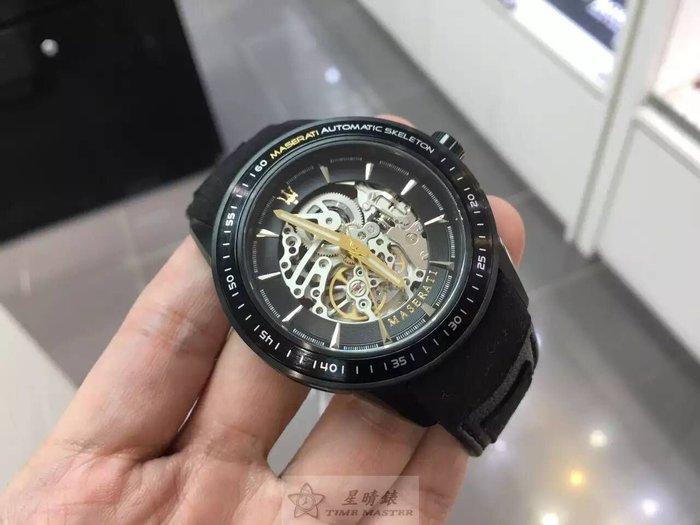 請支持正貨,瑪莎拉蒂手錶MASERATI名牌錶CORSA款,現貨不用等,黑色錶面黑色皮革錶帶款