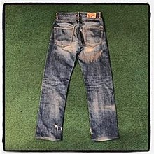 VISVIM FLUXUS DENIM DAMAGED-1 CRASH *USED RANK: A - 05 CUT W32