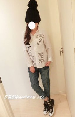 轉賣*SHIN☆rivet&surge挺版眼鏡縫線高帽襯衫 bin kashin kiki yabbi rika WWL