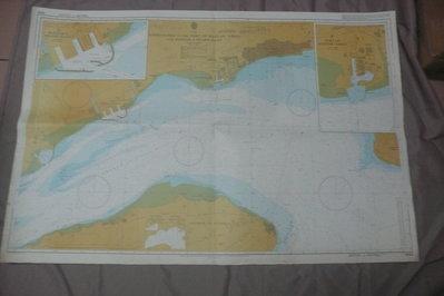 紫色小館90-1---DEPTHS IN METRES-航海圖-APPROACHES TO THE PORT OF BA