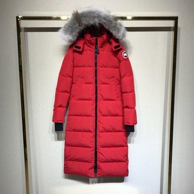 Canada goose Mystique 系列 女士長款羽絨服 米白 黑色 紅色