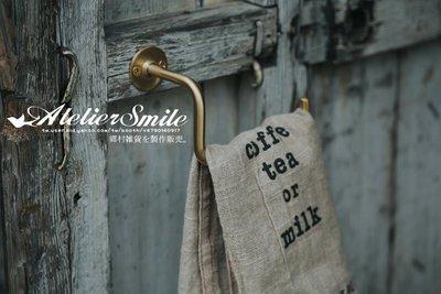 [ Atelier Smile ]  鄉村雜貨 日本直送 復古 純黃銅製 紙巾架 捲筒紙架 毛巾架 衛生紙架 (現+預)