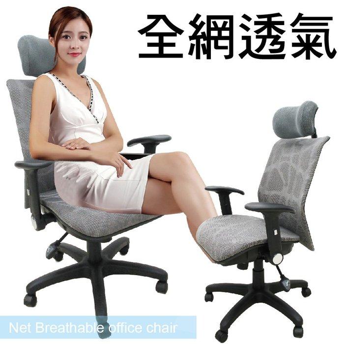 【椅統天下】特優大型全網 - 人體工學辦公椅(雲彩網)