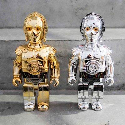 【車庫服飾】收藏品出售 KUBRICK MEDICOM TOY 400% STAR WARS C-3PO 星戰金銀一組