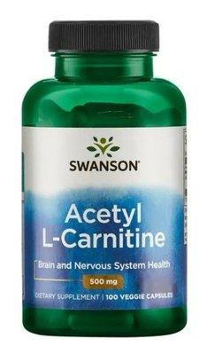 Swanson Acetyl L-Carnitine 乙醯左旋肉鹼 500mg 100顆