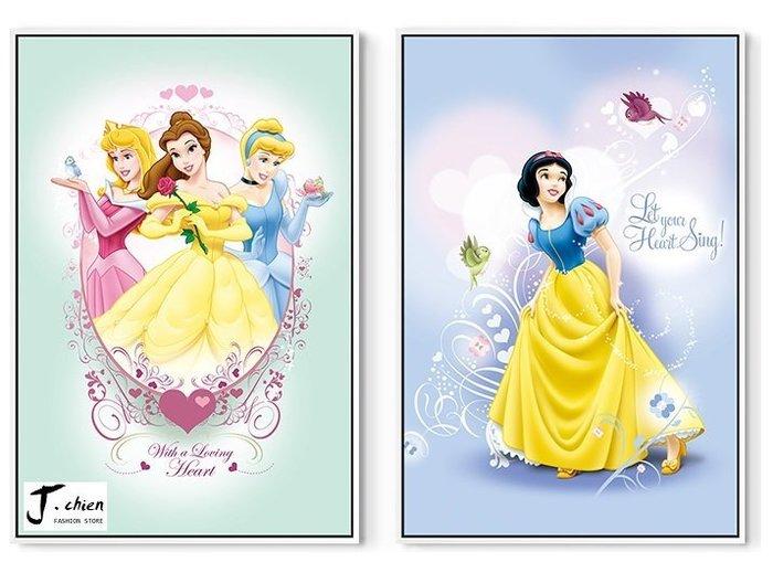 J.chien ~[全館免運]迪士尼公主系列無框掛畫 兒童房壁畫 臥室卡通掛畫 掛畫 白雪公主