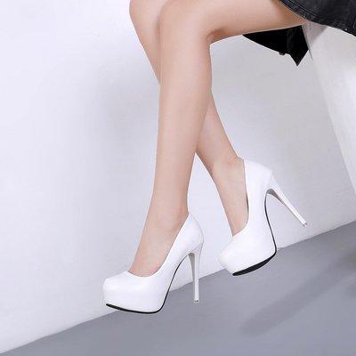 夏季必備 細跟單鞋高跟鞋12cm亞光面...