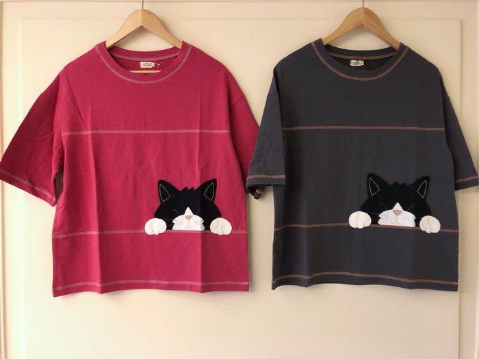 日本卡拉貓~kuro五分袖上衣