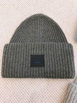 【海洋之心二館】Acne Studios Pansy 100%羊毛 毛線帽~深灰色~