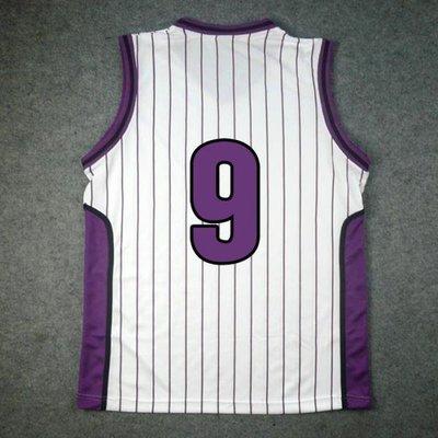 CHINESE TAIPEI SD黑子哲也籃球陽泉高校9號紫原冰室敦籃球服/籃球衣/背心 白色