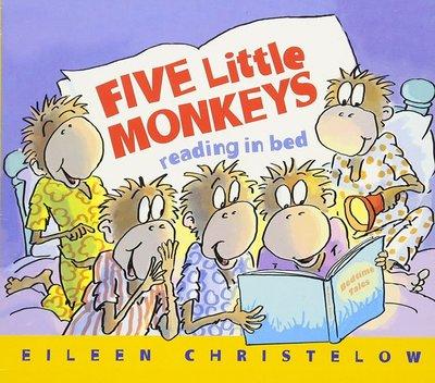 *小貝比的家*FIVE LITTLE MONKEYS READING IN THE BED/平裝/3~6歲 閱讀素養教育