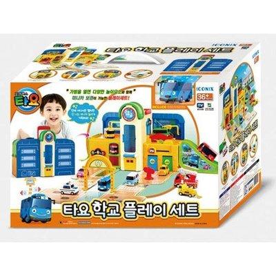 😊PiggyLand😊頂溪自取 全新現貨 TAYO 學校提盒場景組 小巴士軌道組 玩具 禮物 小汽車 正版 禮物