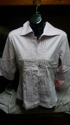 全新淺紫色七分袖襯衫