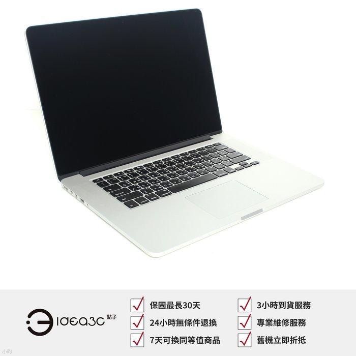 「點子3C」MacBook Pro Retina 15.4吋筆電 i7 2.6G【店保1個月】8G 512G SSD A1398 2012年款 BJ236