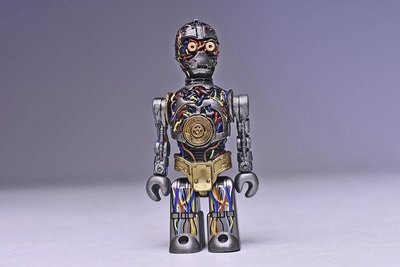 STAR WARS C3PO Phantom Menace Medicom Kubrick Mini Figure Bearbrick Lego