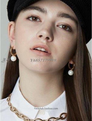 【集千】[韓國代購]韓劇梨泰院class權娜拉同款圓環珍珠耳釘耳飾