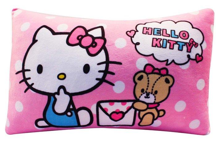HELLO KITTY抱枕~kitty午安枕 車枕~HELLO KITTY枕頭~三麗歐午安枕