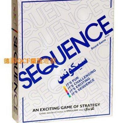桌遊花式五子棋游戲 Sequence Game 英文版 智力益智多人桌遊#柑橘小鋪# xzy 9999