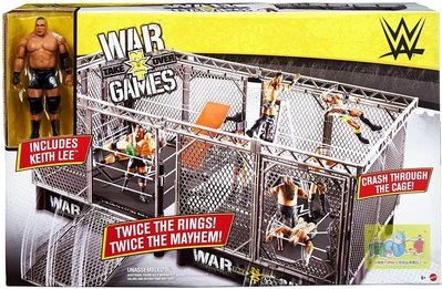 ☆阿Su倉庫☆WWE摔角 NXT Takeover War Games Playset 戰爭遊戲豪華擂台組熱賣中