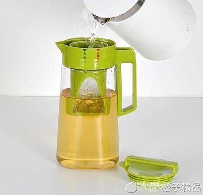 哆啦本鋪 日本ASVEL塑料冷水壺密封耐熱100℃涼水壺泡茶壺帶茶漏大容量家用  D655
