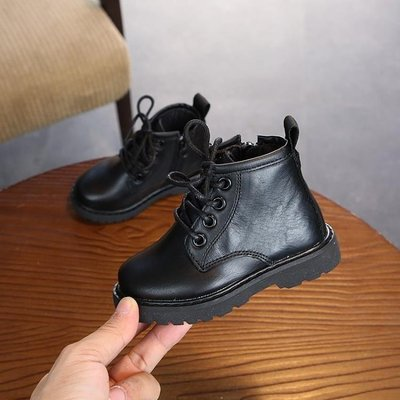 ZIHOPE 軍靴 童鞋男童真皮馬丁靴韓版迷彩女童時尚短靴子兒童皮靴ZI812