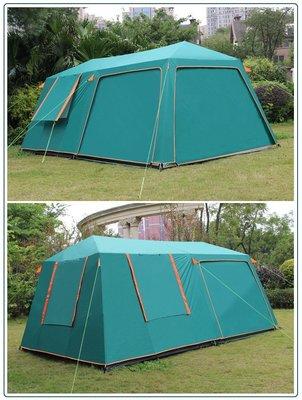 露營 雙層 二房一廳帳篷 8~10人多人帳篷 可變化前廳 防雨大帳棚 2房1廳 500x300cm 防蚊蟲紗網 三門三窗