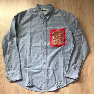 visvim juneau weld shirt 紅色 拉鍊拼布口袋 牛津布