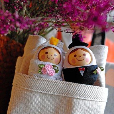 好運來日本萬代Bandai 點頭娃娃結婚套裝 結婚禮品 聲控娃娃 禮盒包裝KK