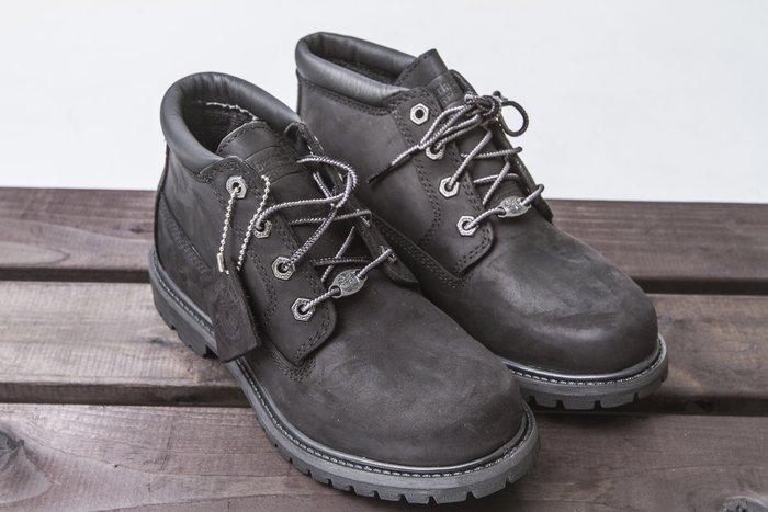 黑羊選物 / Timberland 女款 靴子 低筒 亞洲w楦 經典全黑中筒靴 防水 抗疲勞 新品上市