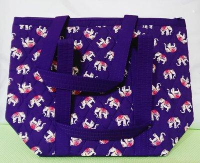 泰國曼谷包紫色大象圖案設計大包包NaRaYa(結束營業甜甜價)A05