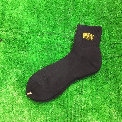 棒球世界 全新ZETT本壘版金標運動短襪~台灣製造加厚毛巾底 特價黑色 台南市