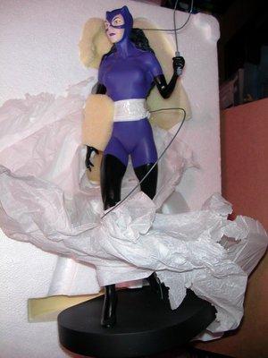 絕版~WARNER BROS. 華納出品 DC BATMAN 黑暗騎士 CATWOMAN 蝙蝠俠之之貓女 約12吋高雕像