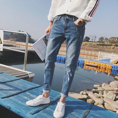 Chita Man + 微潑墨 彈性修身 牛仔褲 2入1500