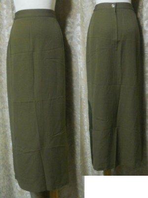 ~麗麗ㄉ大碼舖~大尺寸#38(28-30吋)墨綠色後拉鍊式側岔長裙~全賣場3件免運~小碼拍賣
