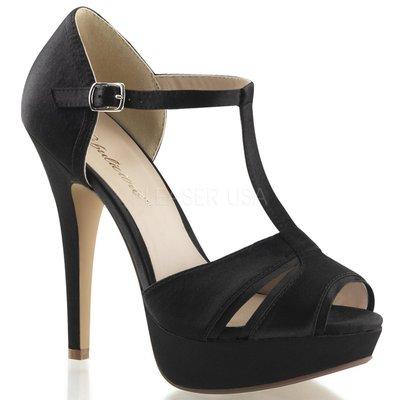 Shoes InStyle《五吋》美國品牌 FABULICIOUS 原廠正品緞面厚底高跟涼鞋 出清『黑色』