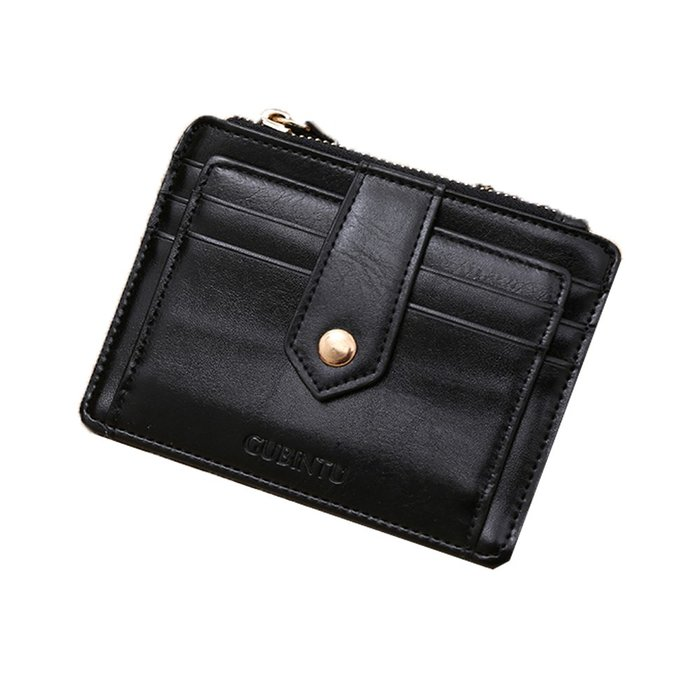 GUBINTU   GT1028BK 韓版創意拉鏈多功能信用卡零錢包皮夾黑色
