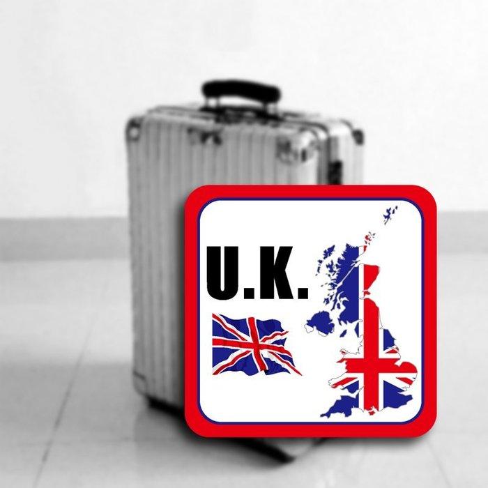 【國旗貼紙專賣店】英國旗領土防水、抗UV行李箱貼紙/各尺寸、多國都有客製/UK