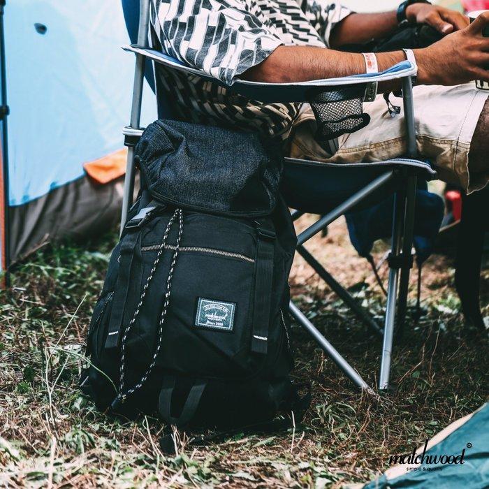 【Matchwood直營】Matchwood Apollo 後背包 附17吋筆電夾層 黑拼接丹寧款 大容量 開學限時優惠