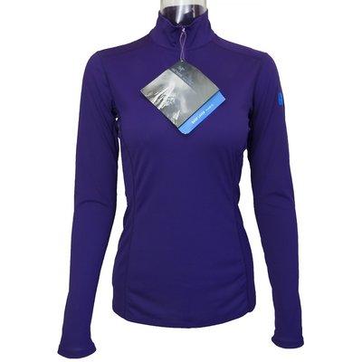 加拿大頂級戶外品牌Arc'Teryx 始祖鳥紫色Phase SL Zip輕薄長袖半拉鍊打底排汗衣 S號