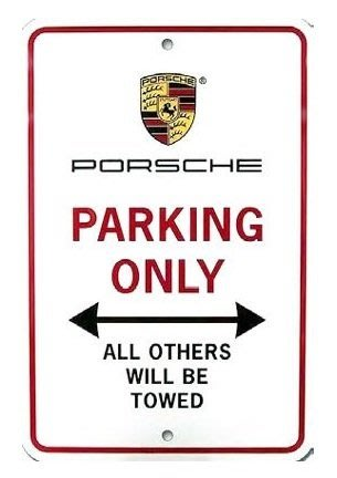 ㊣USA Gossip㊣ Porsche Parking Only Sign 停車專用標誌